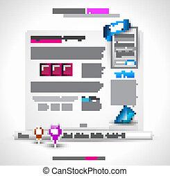 site web, conception, hightech, -, élégant