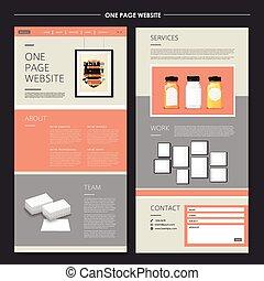 site web, conception, page, gabarit, une