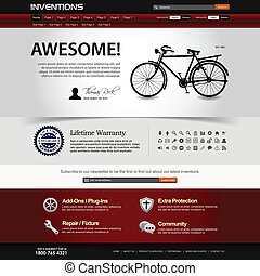 site web, conception toile, gabarit, élément