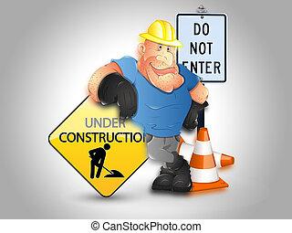 site Web, construção, fundo, sob