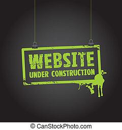 site web, construção, sinal