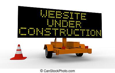 site web, construção, sob
