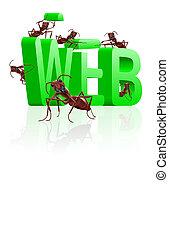 site web, construção, wen, sob