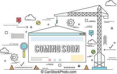 site web, construction, concept