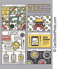 site web, créatif, conception, gabarit, une, page