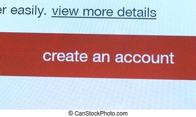 site web, créer, compte