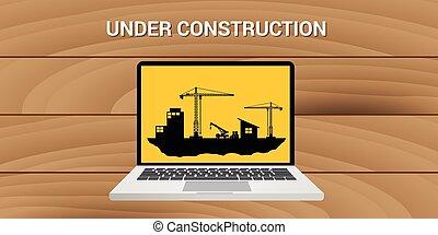 site web, développement, concept, construction, construction, sous