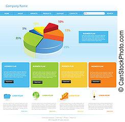 site web, desenho, modelo