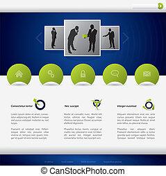 site web, desenho, negócio, modelo