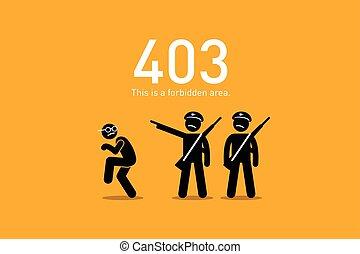 site web, erreur, forbidden., 403.