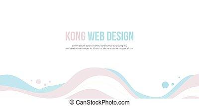 site web, estilo, abstratos, cobrança, onda, cabeçalho