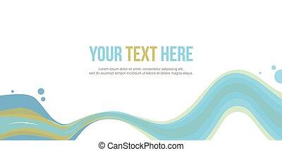 site web, estilo, abstratos, onda, cabeçalho, estoque