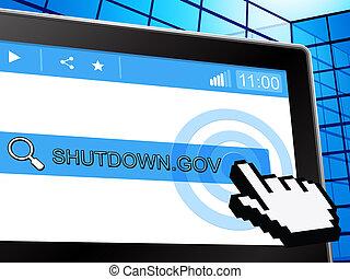 site web, fechado, governo, senado, meios, shutdown, presidente, américa, ou