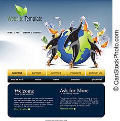 site web, gabarit
