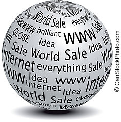 site web, globe, vecteur