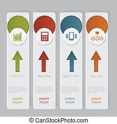 site web, graphique, disposition, infographic., nombre, conception, gabarit, bannières, ou
