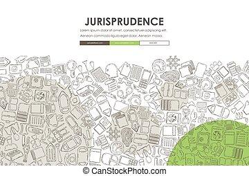 site web, griffonnage, conception, jurisprudence, gabarit