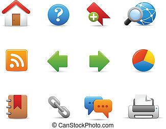 site web, icônes, --, doux, série