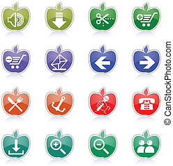 site web, icônes, icônes internet, &