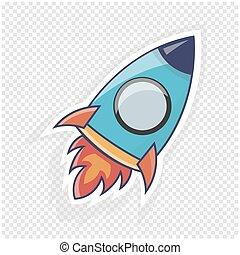 site web, illustration., fusée, objet, infographics., vecteur, ou, icône
