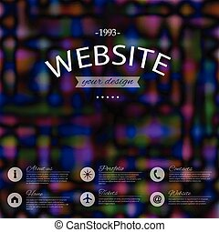 site web, incorporado, design.