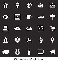 site web, internet, gris, fond, icônes