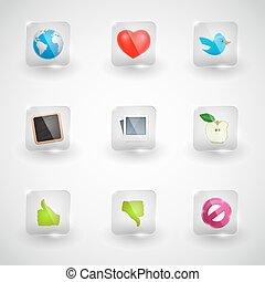 site web, internet, vecteur, icônes