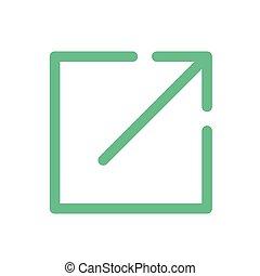 site web, licença, link, externo, ícone