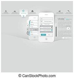 site web, mobile, gabarit, téléphone