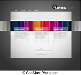 site web, modelo, com, stripes.