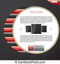 site web, modelo, listrado, desenho