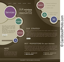 site web, modelo, para, internet