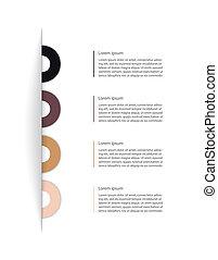 site web, moderne, conception, ton, gabarit