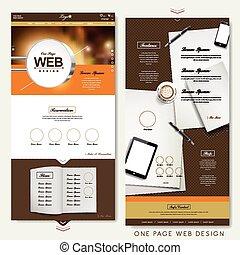 site web, moderne, une, conception, gabarit, page