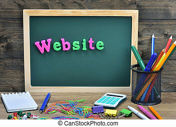 site web, mot