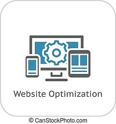 site web, plat, icon., optimization, design.