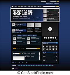site web, projeto teia, modelo, elemento