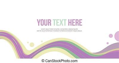 site web, résumé, collection, vague, en-tête, fond