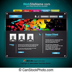 site web, résumé, technologie, gabarit