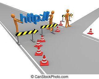site web, redirection