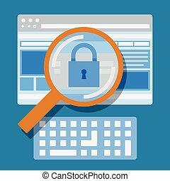 site web, sécurité, balayage, internet