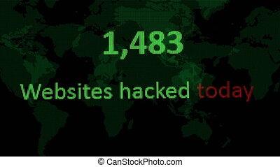 site web, sécurité, malveillant, hacher, cyber