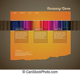site web, stripes., gabarit