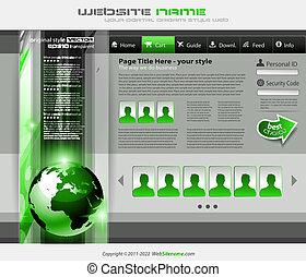 site web, style, business, gabarit, hitech