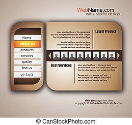 site web, style, technologie, gabarit, business