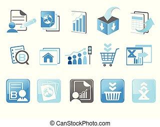 site web, technologie internet, icones affaires