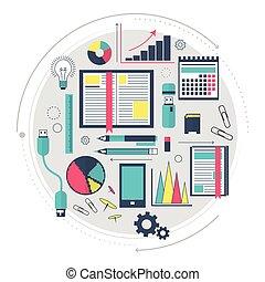site web, technologies., process., concept, mot clé, ...