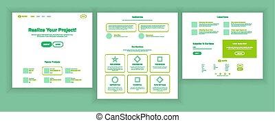 site web, teia, esquema, shopping, negócio, monday., online, local, ilustração, página, strategy., planificação, desenho, cyber, vector., investir, conference., template., reality.