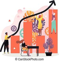 site web, toile, concept, bannière, business, vecteur, équipe, page