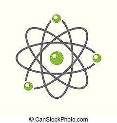 site web, toile, graphique, signe., app., simple, concept., moderne, ou, symbole, mobile, atome, vecteur, conception, bouton, fond, internet, branché, blanc, conception, icône